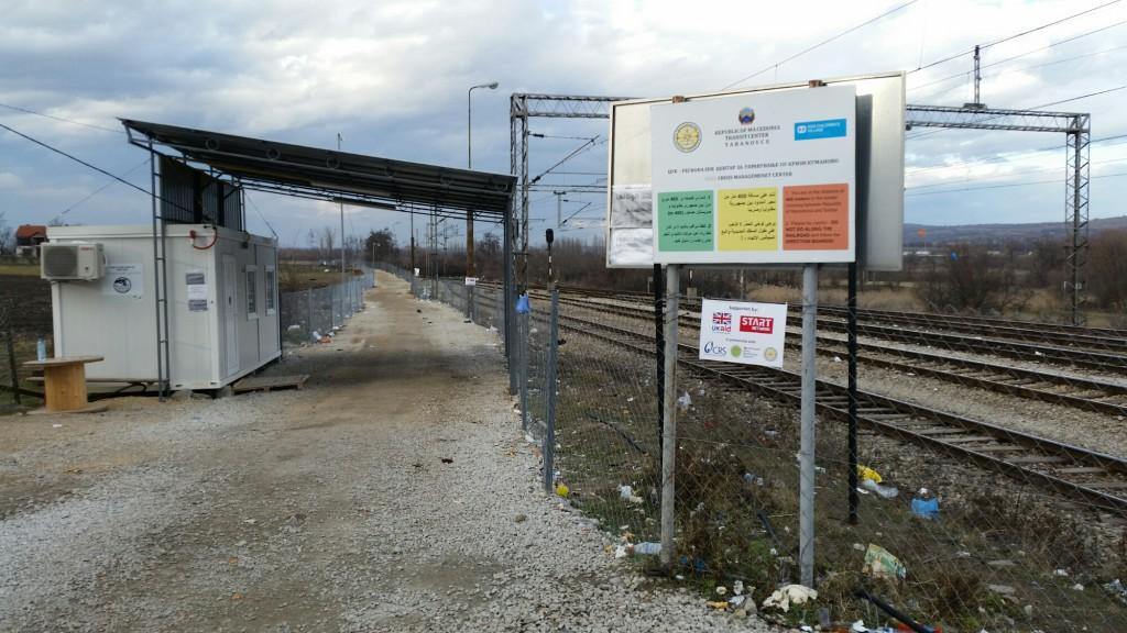 Vluchtelingenkamp Servische grens