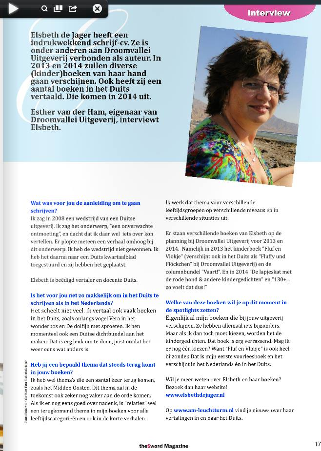 Elsbeth in het Sword Magazine