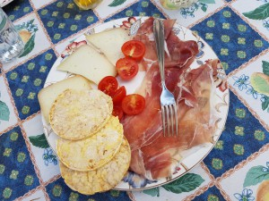 Eten ibij de schrijfreis Toscane