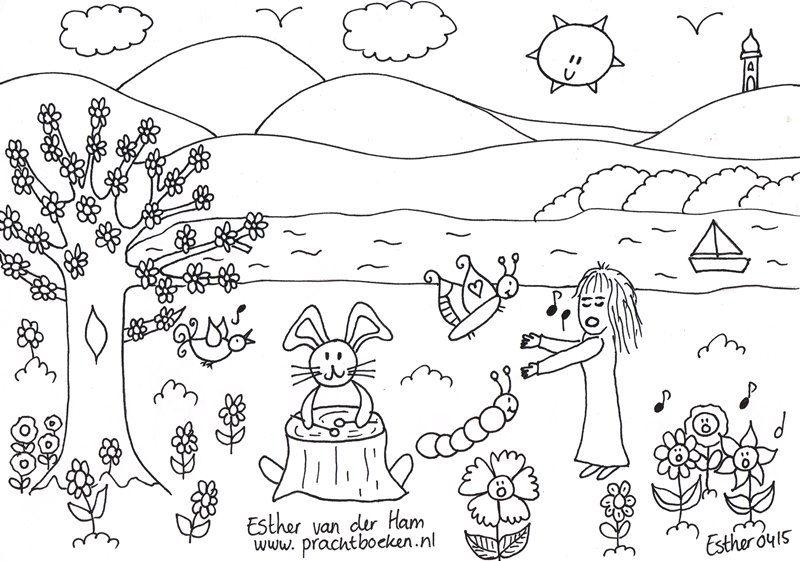 Kleurplaten Verjaardag Buurvrouw.Kleuren Droomvallei Uitgeverij