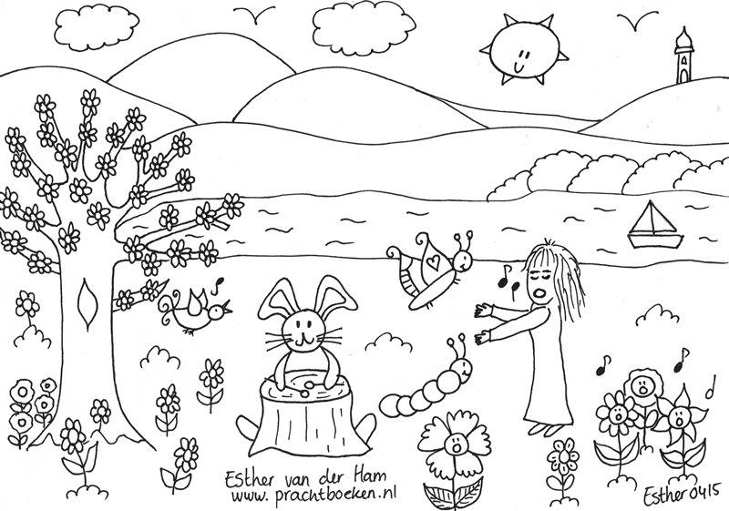 Kleurplaten Lente En Zomer.4 Lente Kleurplaten Voor Je Kinderen Droomvallei Uitgeverij