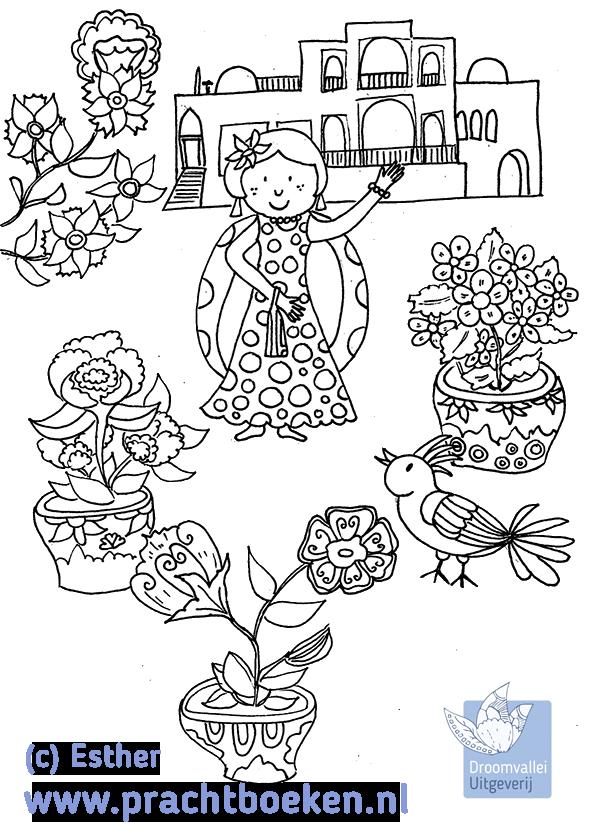 Kleurplaten Nieuw Huis.Kleurplaat Voor Nieuw Kinderboek Over Pepi In Iran Droomvallei