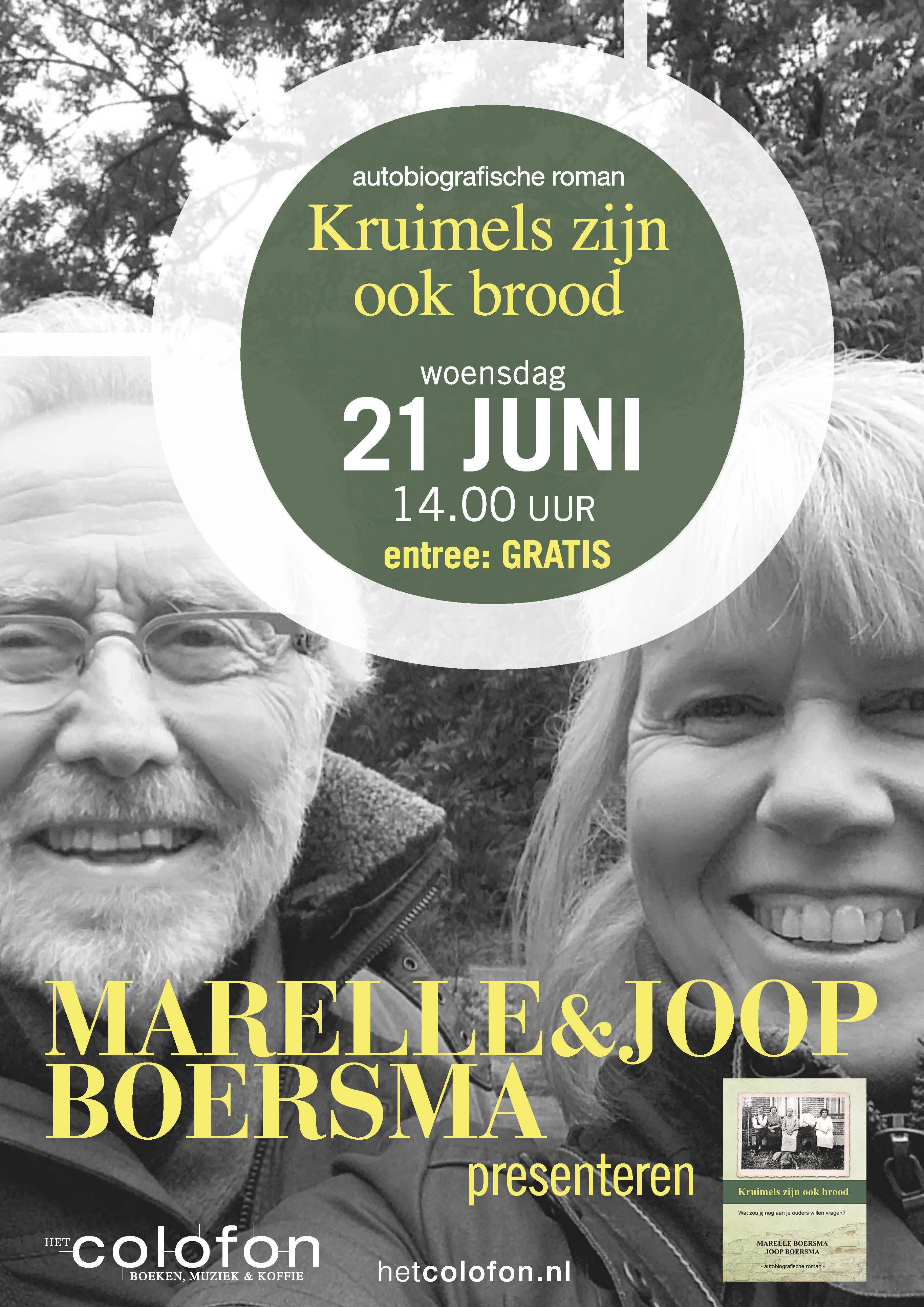 Boekpresentatie Marelle en Joop Boersma