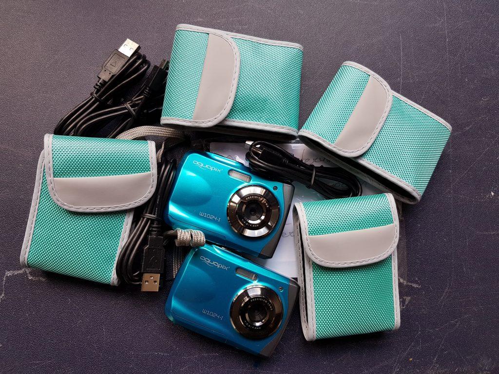 Fotocamera's in koffer