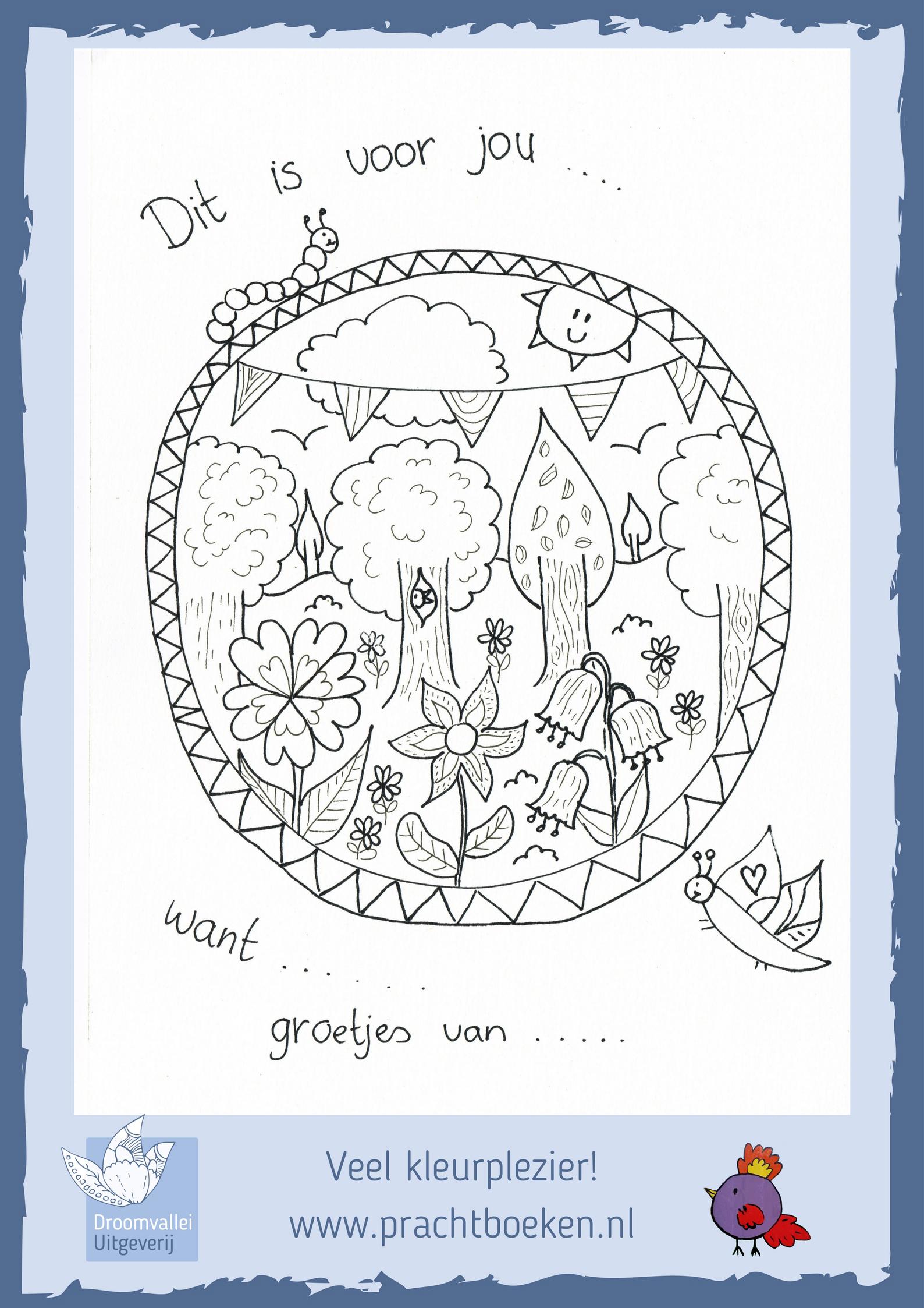 vaderdag kleurplaat droomvallei uitgeverij