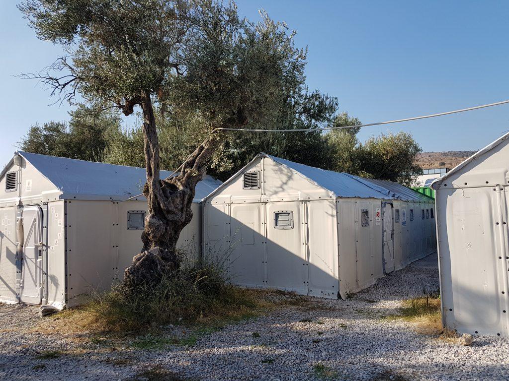 Het kamp Kara Tepe op Lesbos
