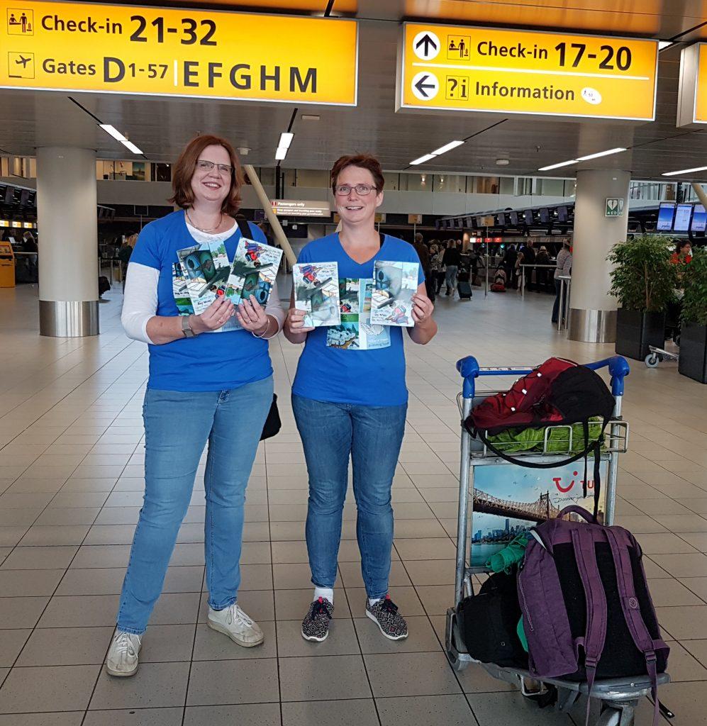 Reis naar Lesbos: vertrek op Schiphol