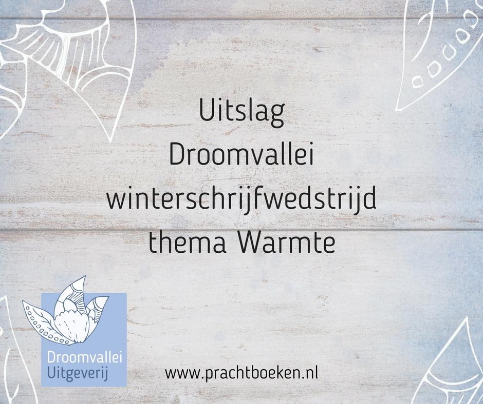 Droomvallei winterschrijfwedstrijd 2017