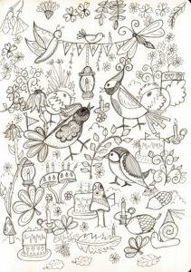 Kleurplaat verjaardag Esther van der Ham