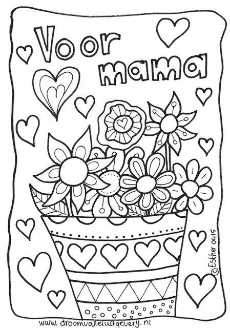 gratis kleurplaten moederdag