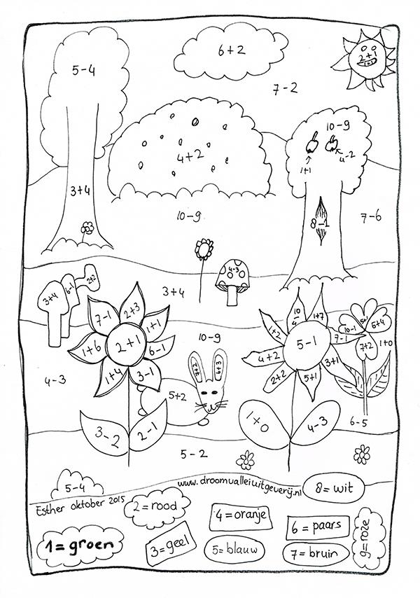 Kleurplaat Met Cijfers Inkleuren Pn77 Aboriginaltourismontario