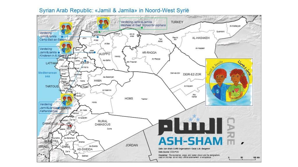 verdeling boeken bij aan Syrische kinderen in vluchtelingenkamp
