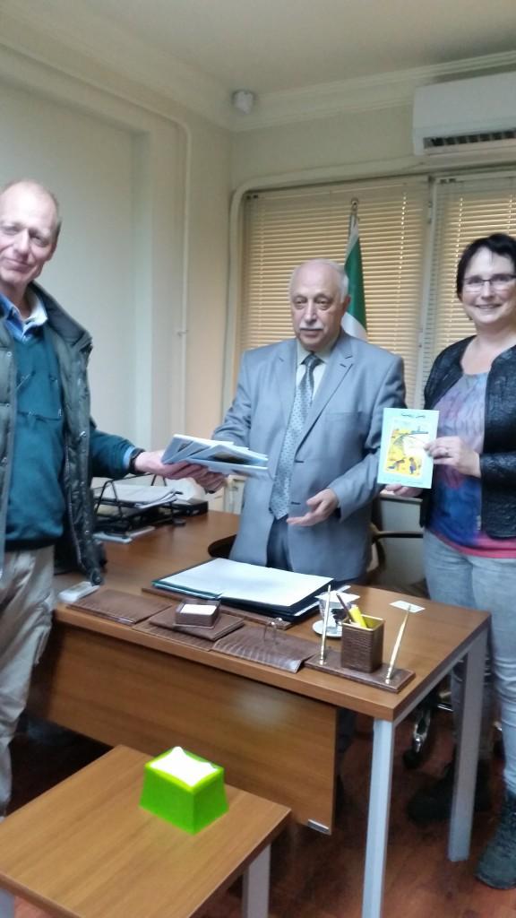 Bij de minister van onderwijs van de Syrische interim regering