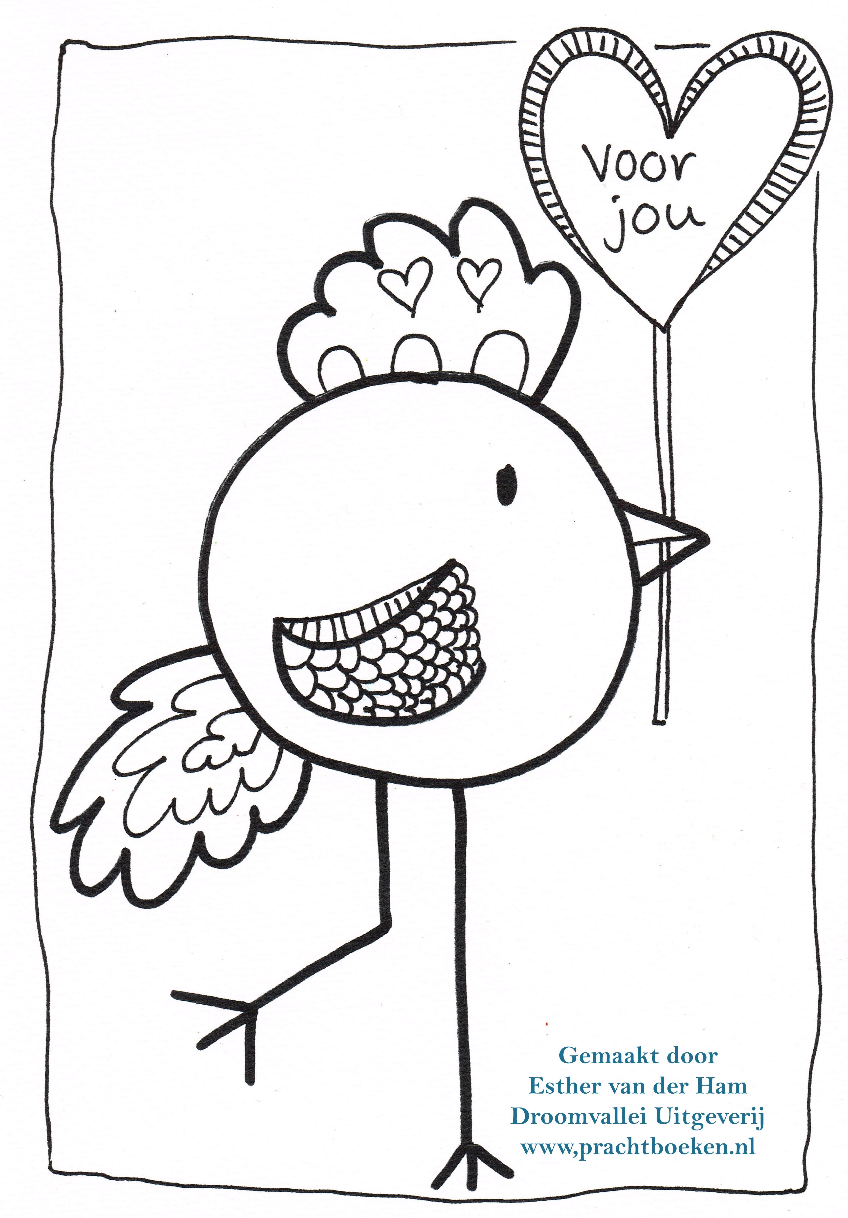 Kleurplaten Over Vogels.Vogel Kleurplaat Voor Jou Droomvallei Uitgeverij